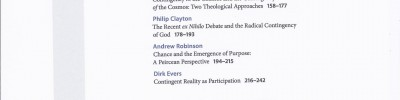 Contingency. Thematic issue of Philosophy, Theology and the Sciences